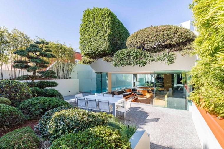 murs de verre maison moderne