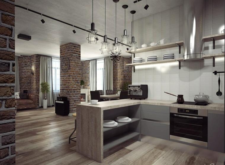 cuisine ouverte-salle à manger-moderne