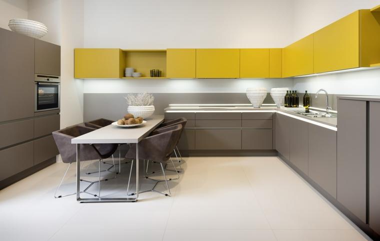 décorer le salon avec cuisine-américaine-moderne