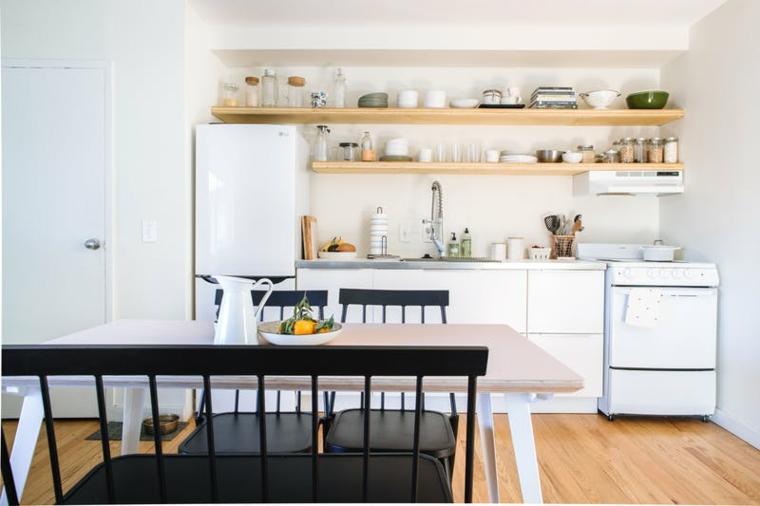 Petites cuisines de style Ecandinavien