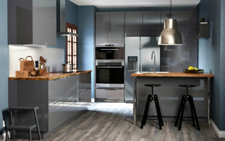 cuisines-ikea-dark-colours