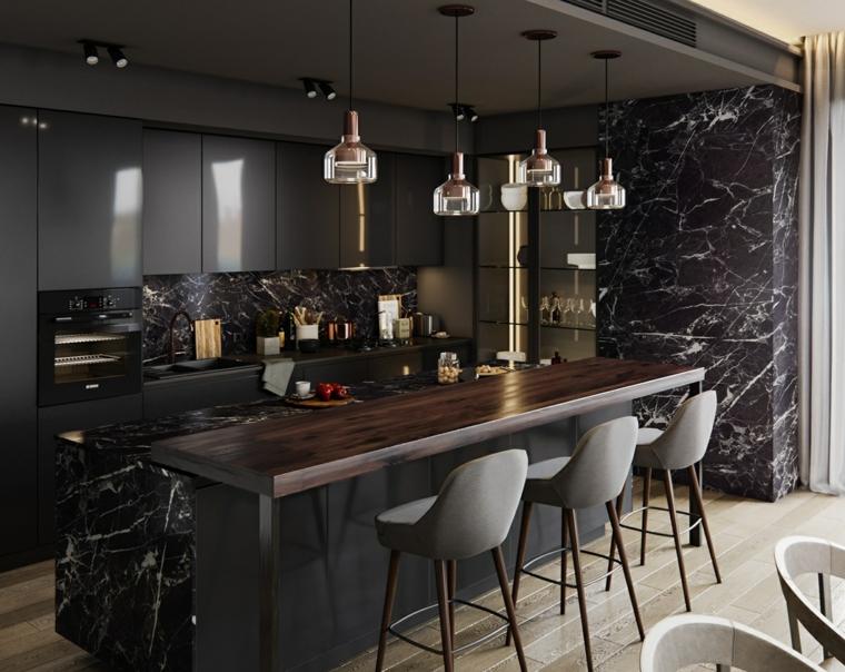 cuisine-couleurs sombres-design