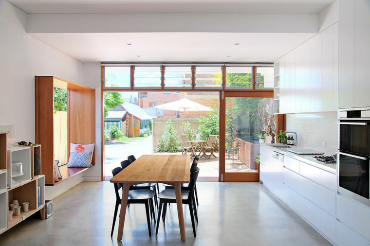 cuisine design décontracté et minimaliste