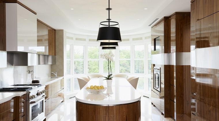 cuisine-ilot-forme-ovale-Douglas-Design-Studio