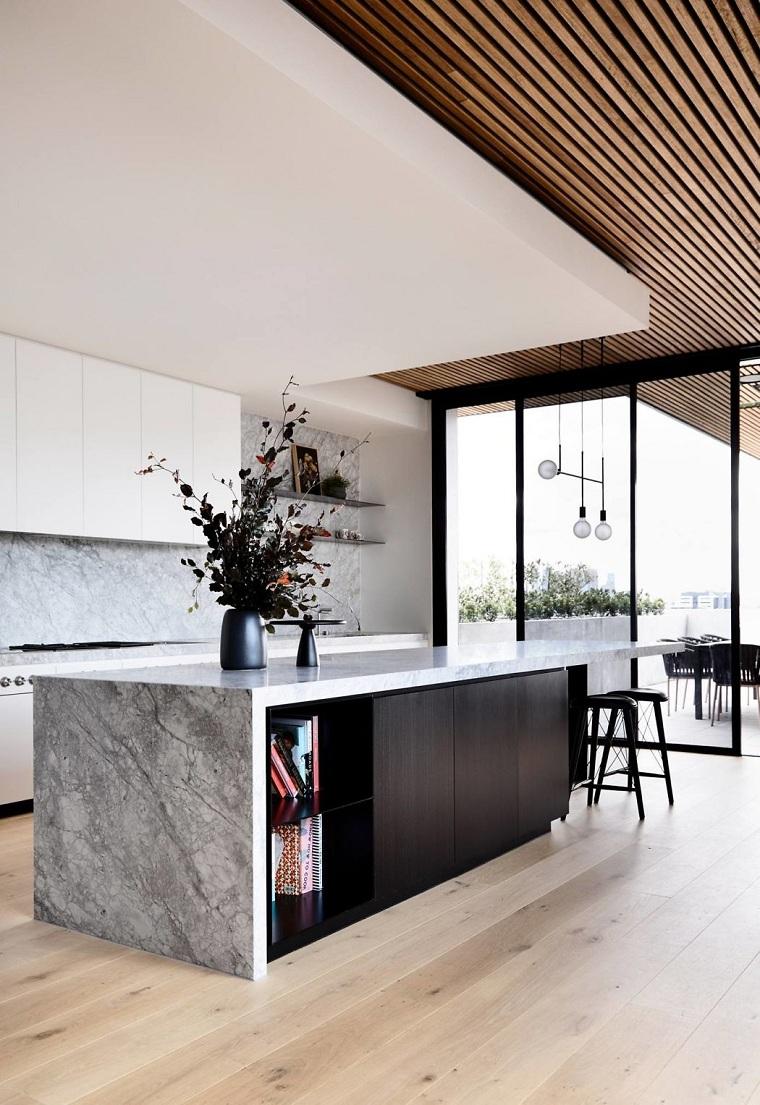cuisines modernes avec island-design-tom-robertson-architectsaustralia
