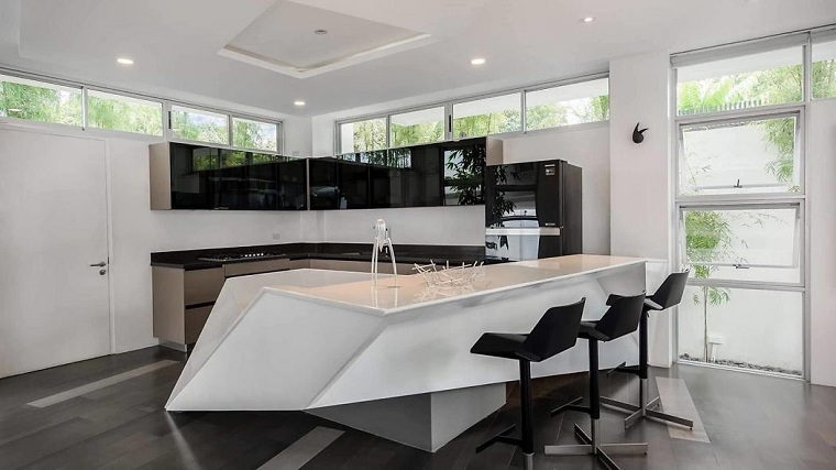 cuisines modernes avec island-design-zubu-design-associates