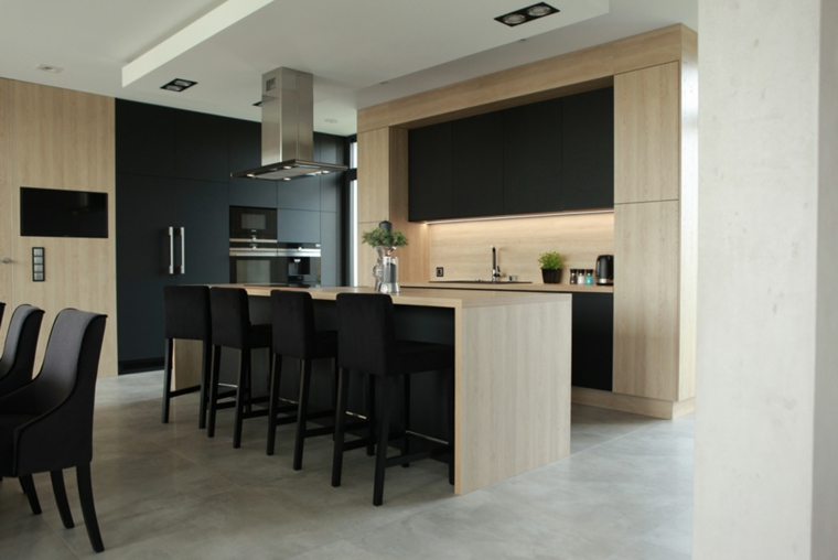 cuisine-design-moderne-style-bois-noir