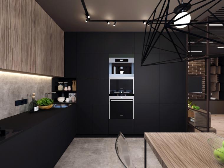cuisine-noir-moderne-details-bois