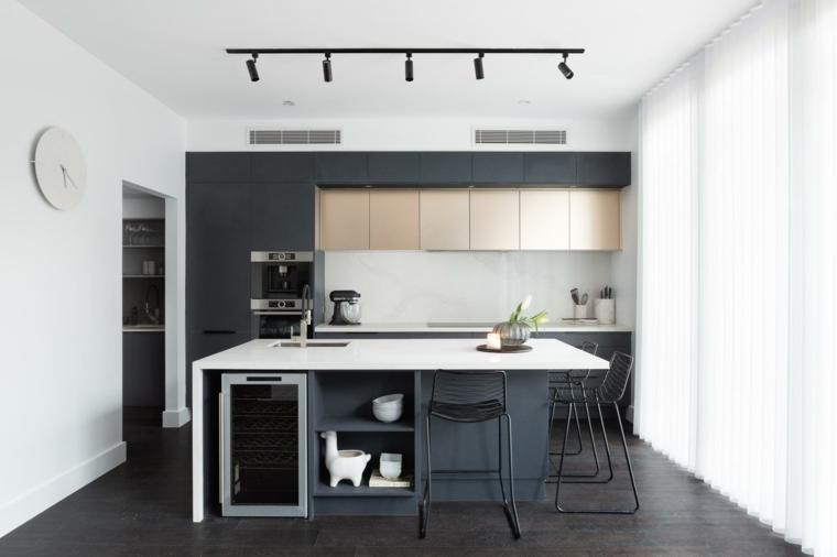 cuisine-noir-espace-petites-iles-idées
