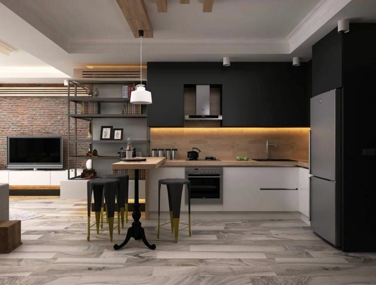 cuisine-noir-bois-style-decore-maison
