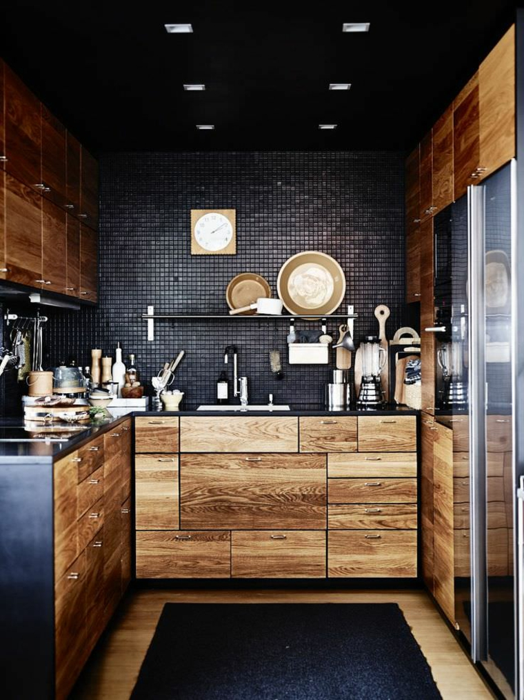 cuisines-maison-noire-design-style classique