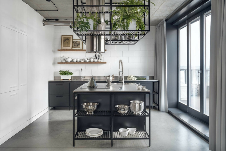 cuisines-black-ideas-island-design-industrial