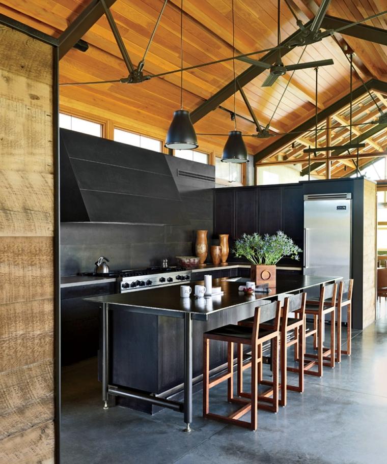 chaises-bois-cuisine-design-idées-originales