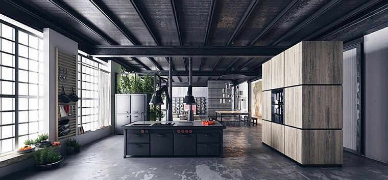 cuisine-large-design-industriel-idées