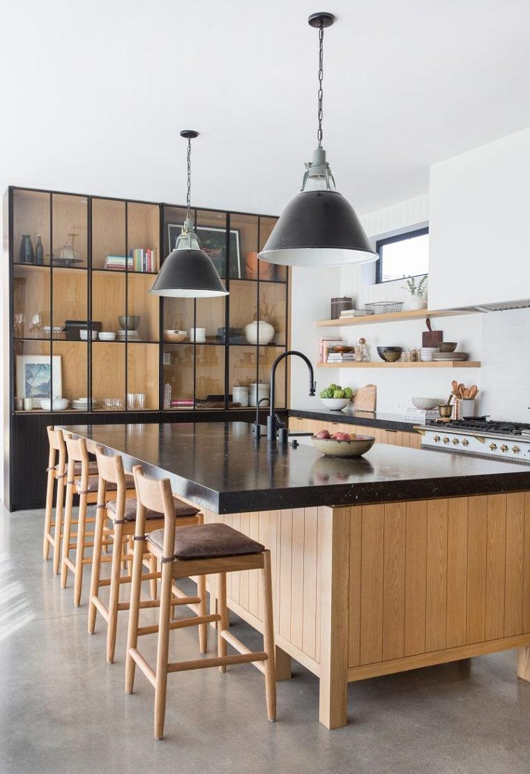 cuisine-noir-bois-style-design-interieur
