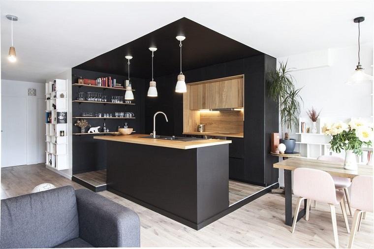 cuisine-noir-bois-style-original