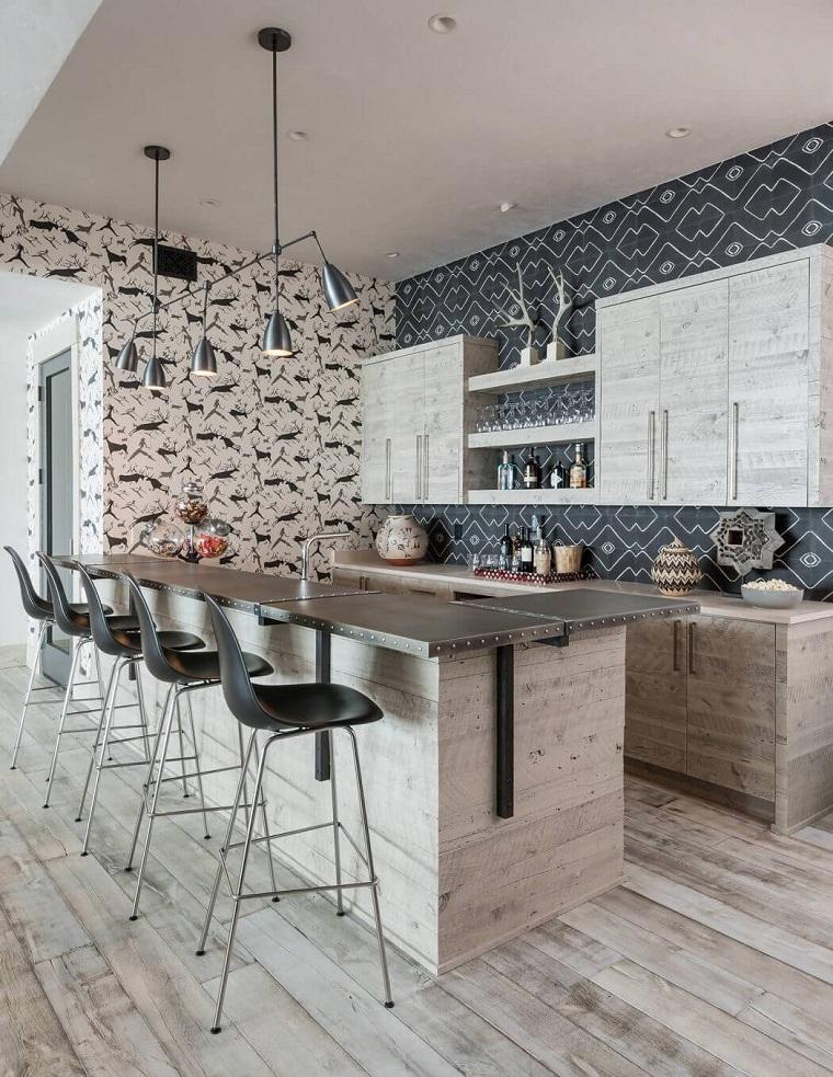 cuisines rustiques modernes par les architectes Locati