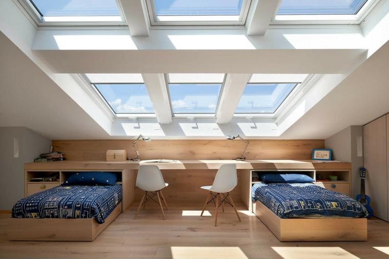 chambre dans le grenier de biondi architetti