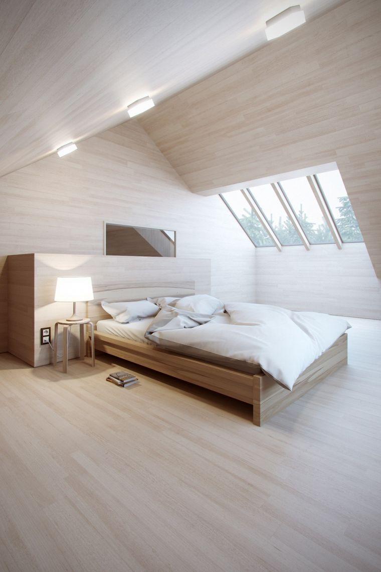 chambre à coucher avec meubles en bois