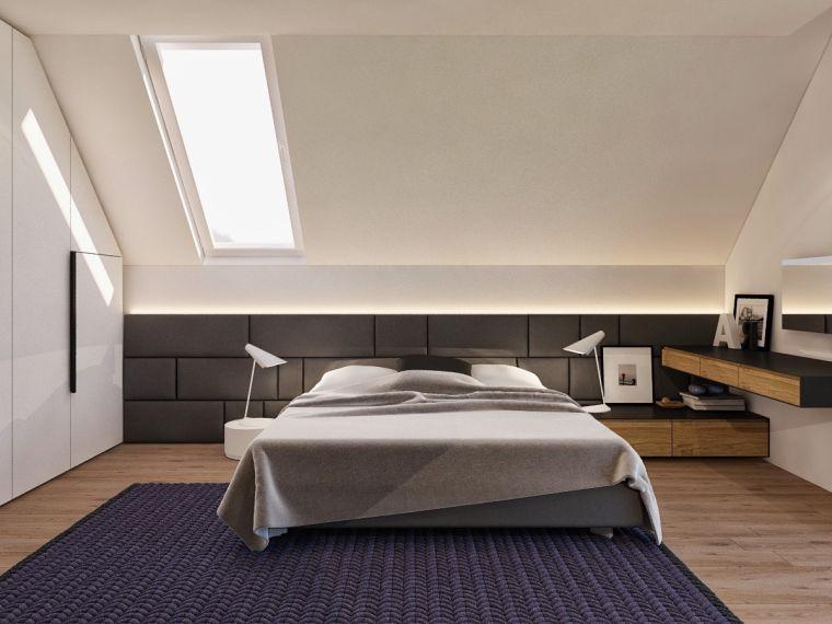 chambre moderne dans le grenier