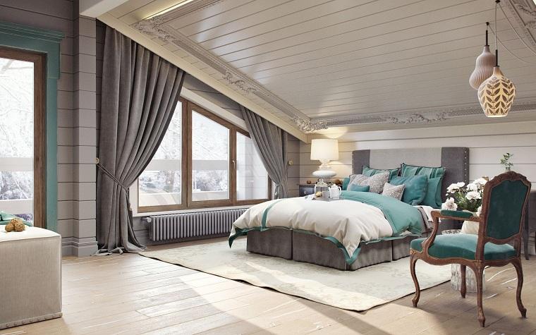 décoration penthouse bleu