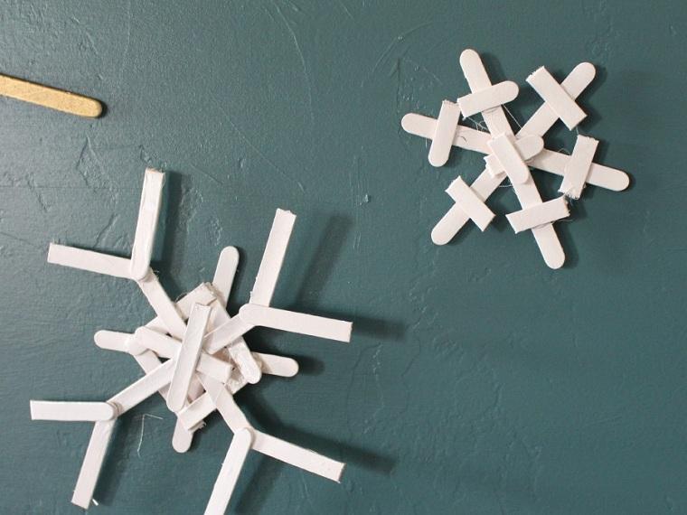 flocons de neige-blanc-idées-décoration