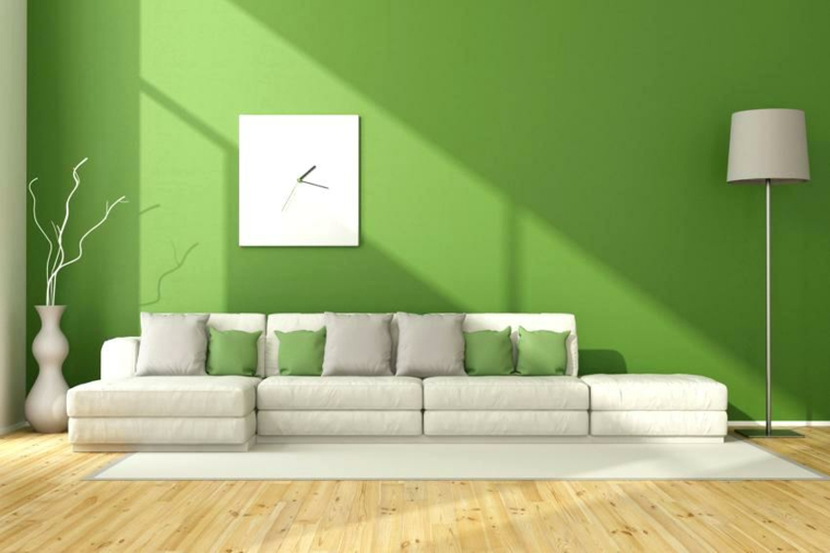 plancher vert decoration-modern-salon