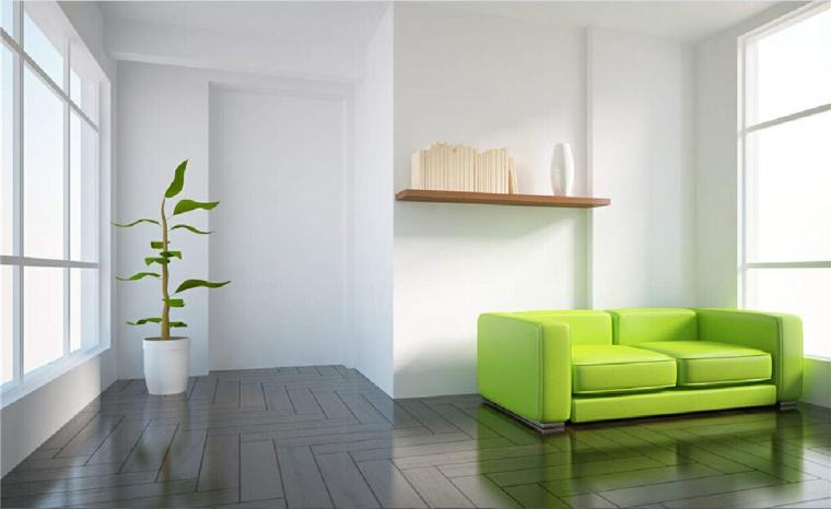 couleurs qui se combinent avec green-salon