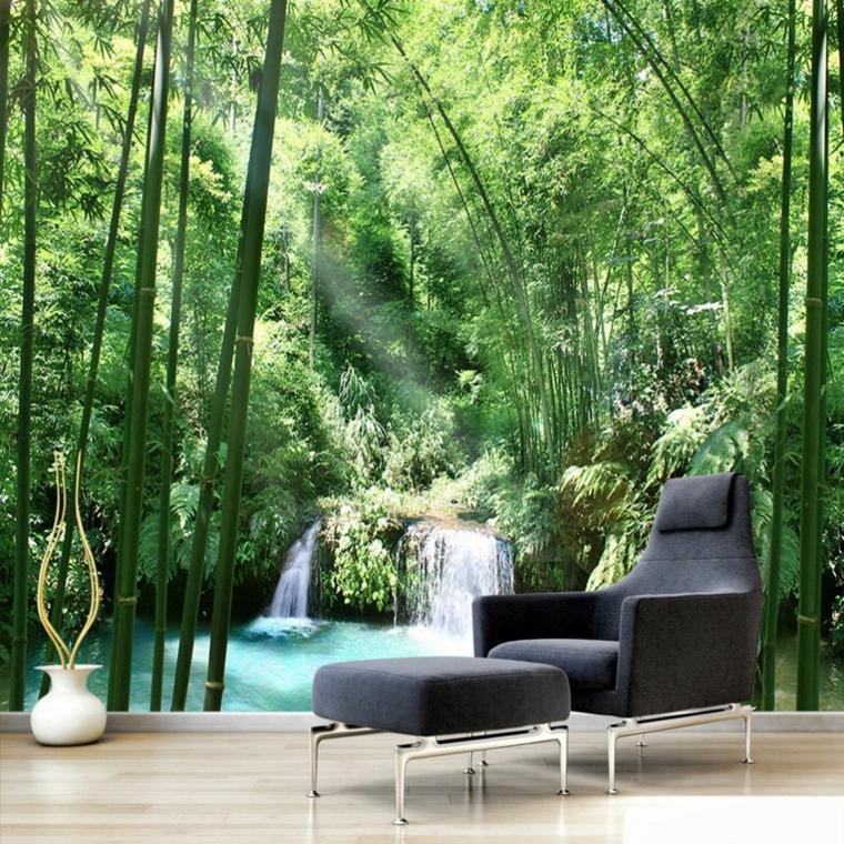 décoration dintérieur-paysage-vert