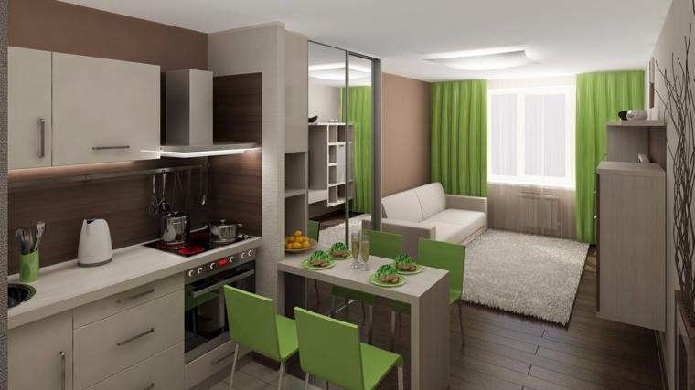 sol vert décoration-cuisine
