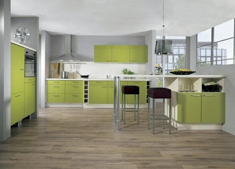 nuances de green-design-kitchen