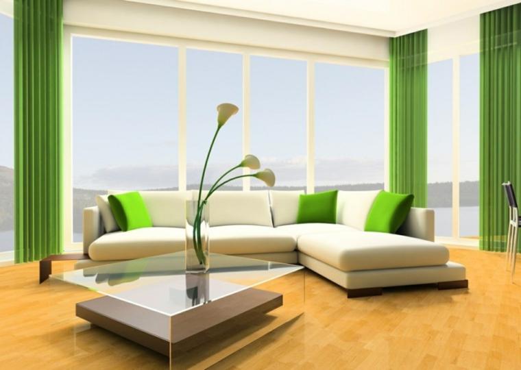 décoration de sol vert-accents modernes