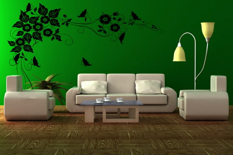 sol vert decoration-murs-vie