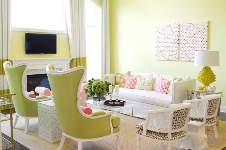 sol vert décoration-salon