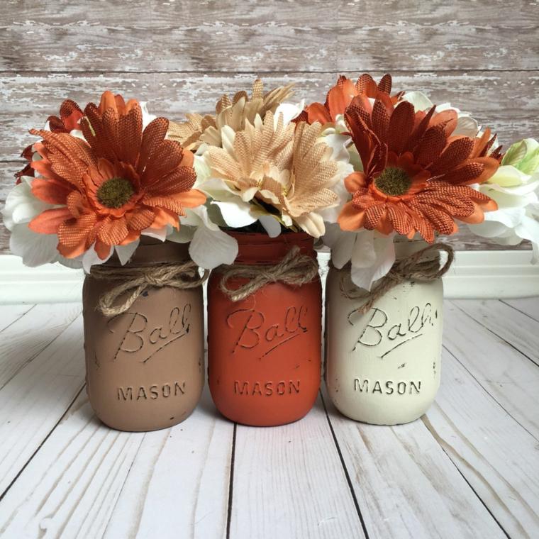 idées de décoration-table-fleurs-automne