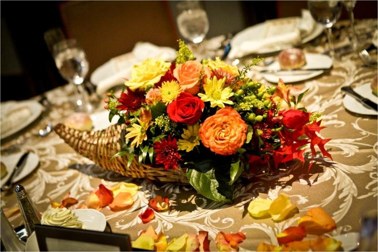 décoration dintérieur-fleurs-automne