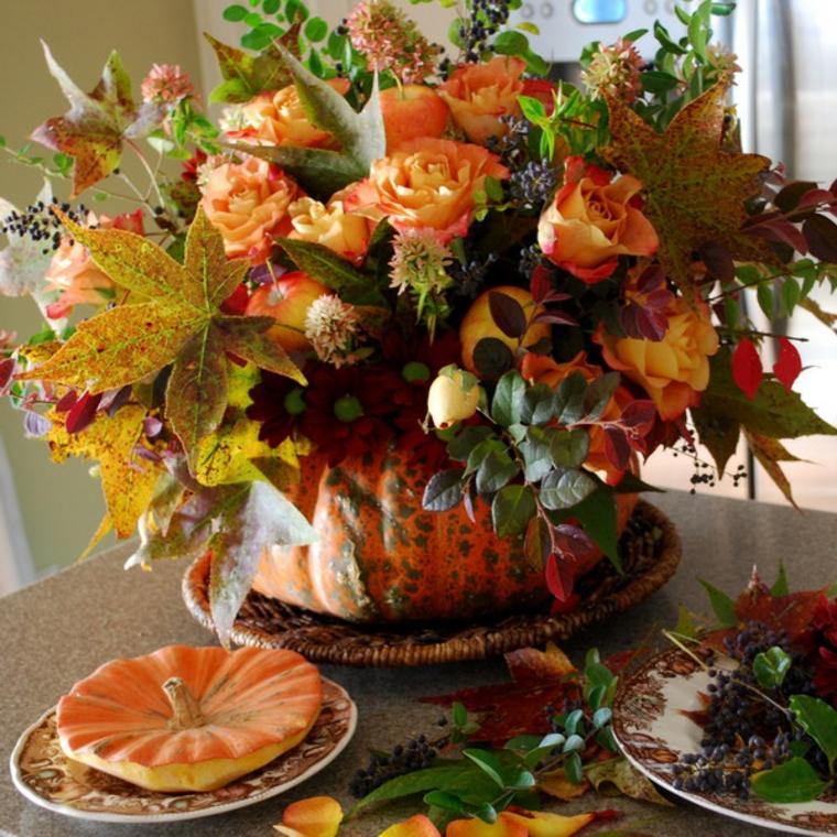 décoration dintérieur-table-citrouille-automne