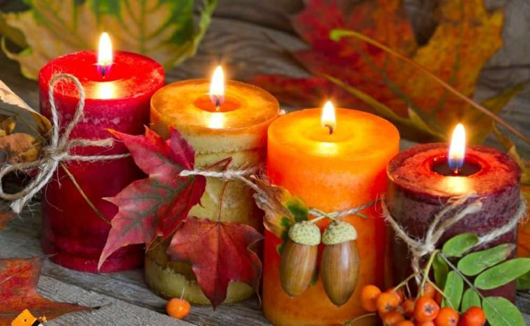décoration dintérieur-table-bougies-automne