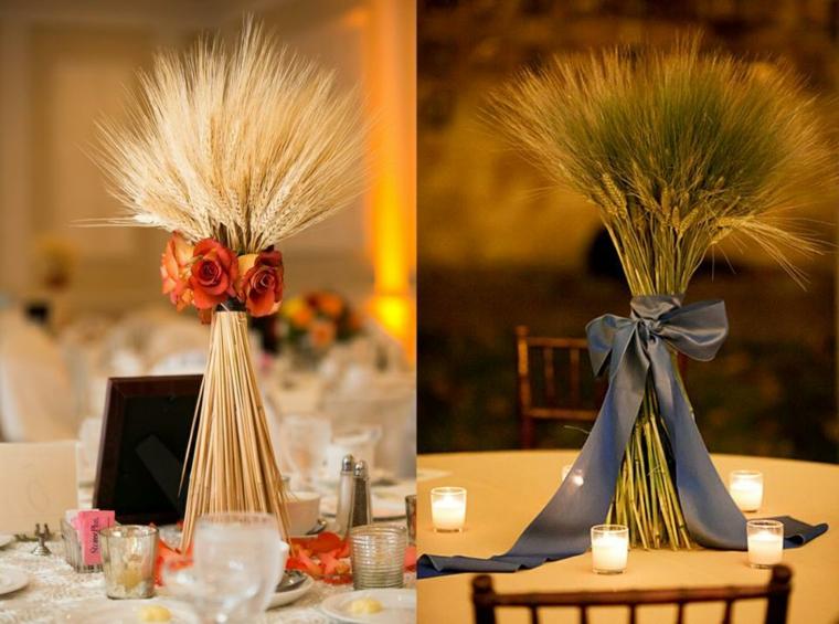 intérieurs de maisons-tables-décorées-automne
