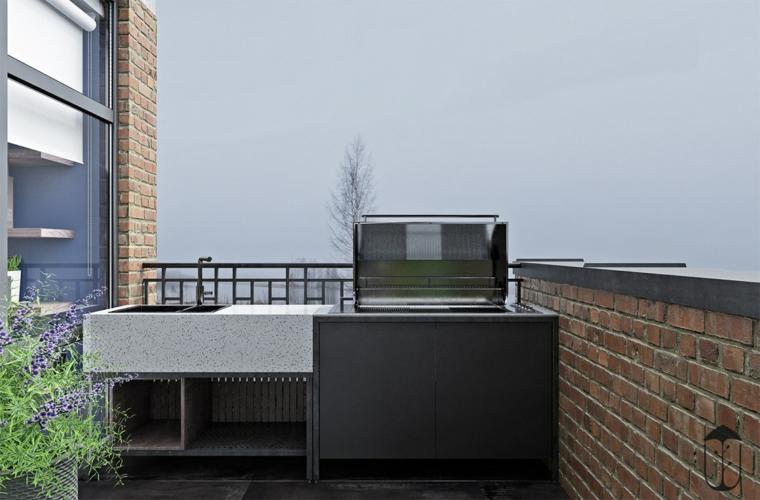 cuisine-extérieur-sur-le-balcon