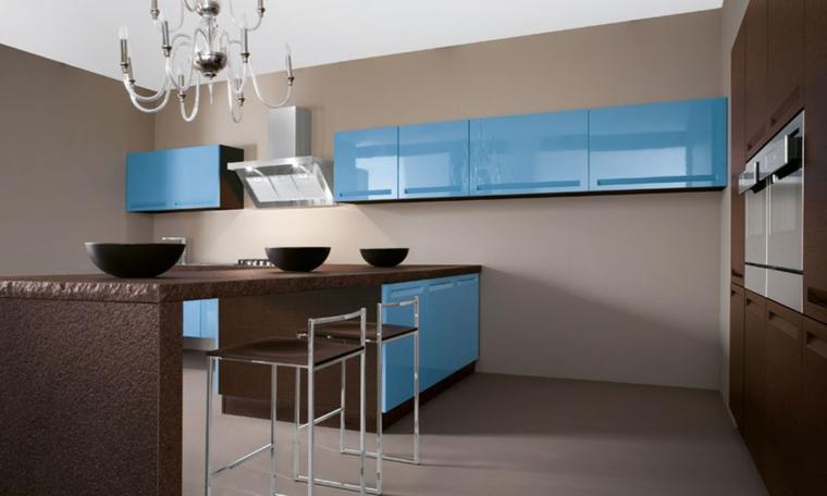 meubles modernes - accents turquoises