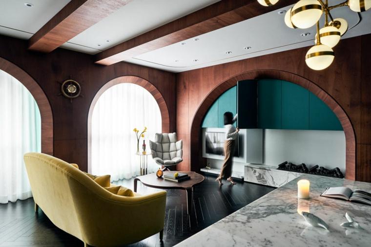 décoration moderne-intérieur-couleur-turquoise