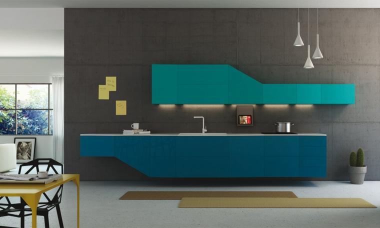 décoration de maisons modernes-couleur-turquoise