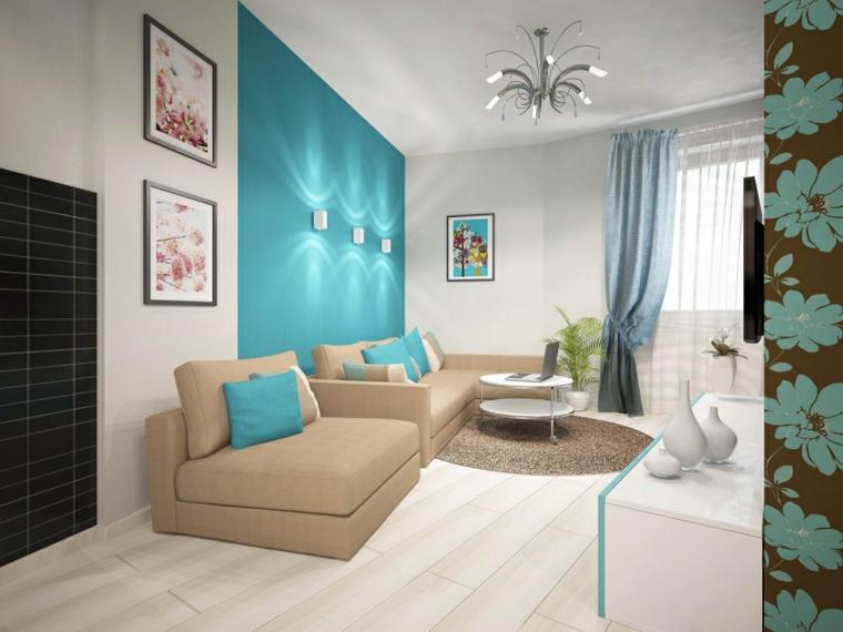 accents de décoration moderne-intérieurs-turquoise