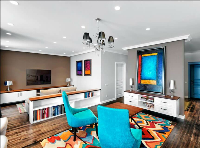 décoration moderne-acnetos-couleur-turquoise