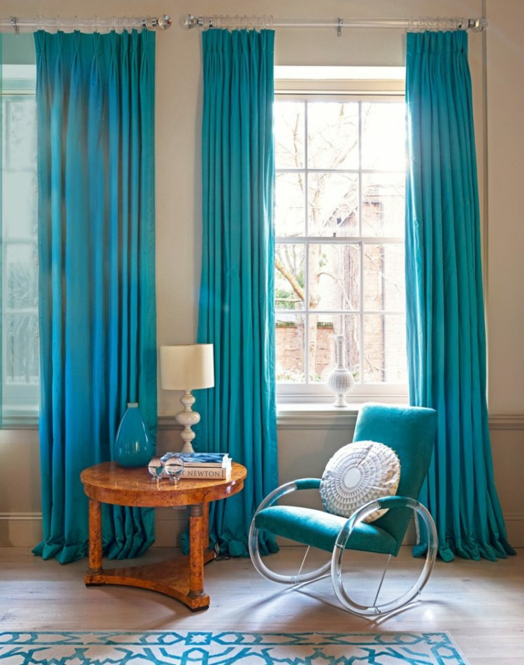 décoration de chambres-accents-turquoises