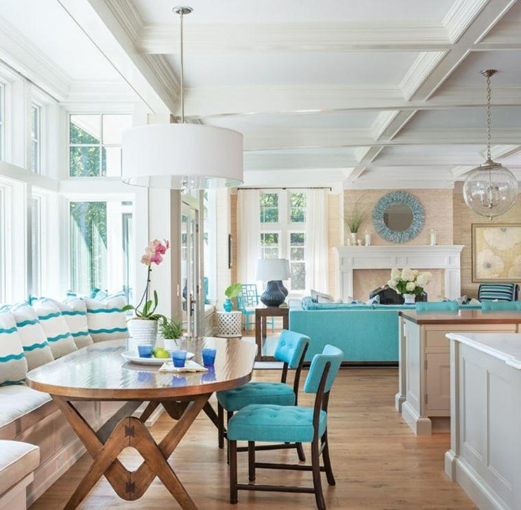 décoration des accents de maisons modernes-turquoise