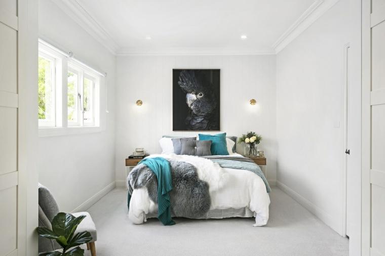 décoration de chambres modernes-couleur-turquoise