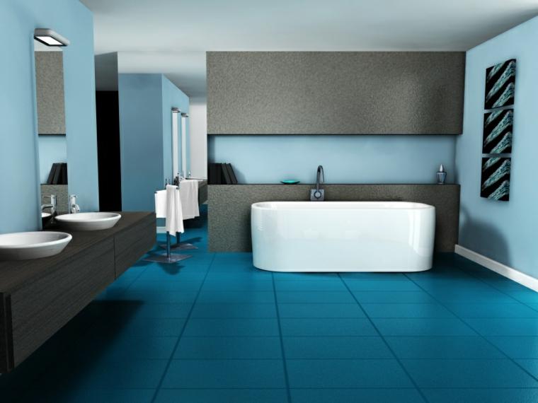 décoration de chambres-salles de bains-accents-turquoises