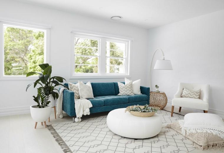 intérieurs de maisons modernes-couleur-turquoise